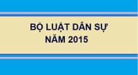 Bộ luật dân sự 2015